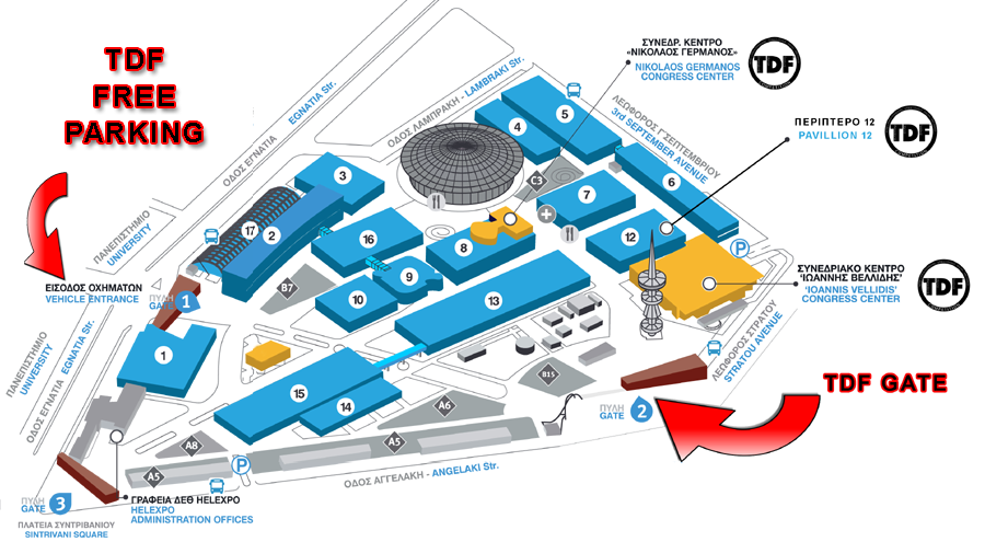 Map Helexpo Congress Hall